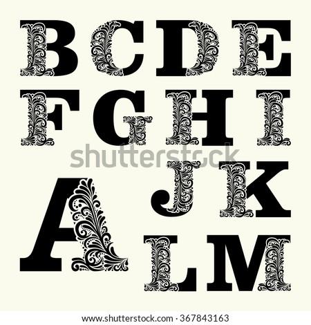 elegant capital letters set 1
