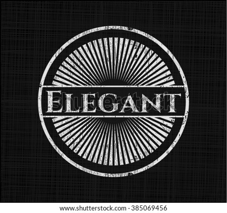 Elegant chalkboard emblem on black board