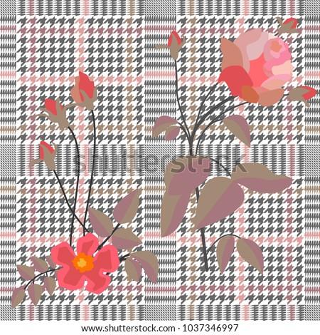 elegant checkered  print with