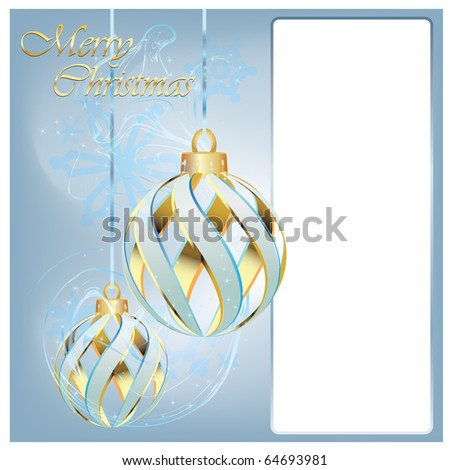 Elegant Christmas background with gift and snowflakes