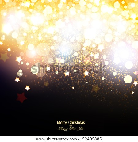 Elegant Christmas background with snowflakes and place for text. Vector Illustration. #152405885