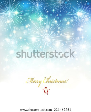 Elegant Christmas background with white snowflakes Vector design