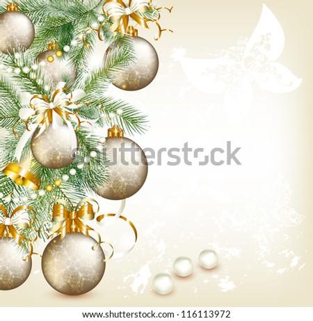 Elegant Christmas card. Christmas vector
