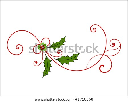 elegant christmas flourish  (pieces for changes)