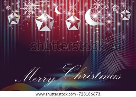 Elegant Christmas Poster Template with snowflakes and star with moon in abstract background,Merry christmas and happy new year and greeting card, Can be use for print on magazine,Vector illustration. #723186673