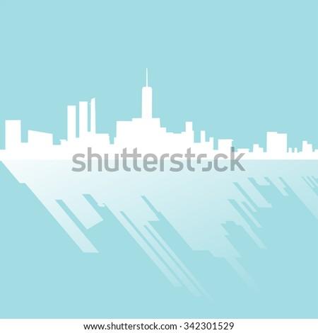 elegant city silhouette