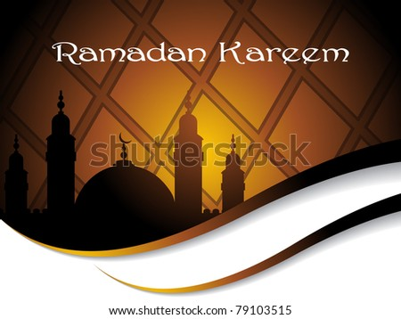 elegant concept illustration for ramadan kareem