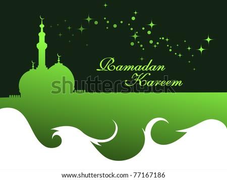 elegant concept wallpaper for ramadan kareem - stock vector