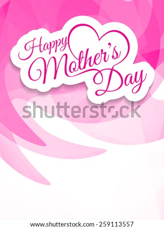 Elegant creative background design for mother\'s day. Vector illustration