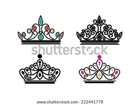 elegant crowns vector
