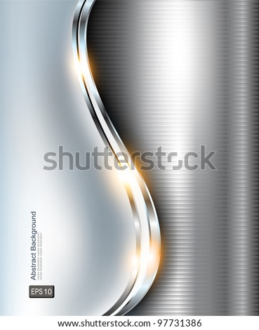 Elegant 3d metallic background, vector.