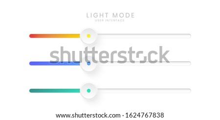 Elegant 3D Slider Bar UI in Light Mode Сток-фото ©