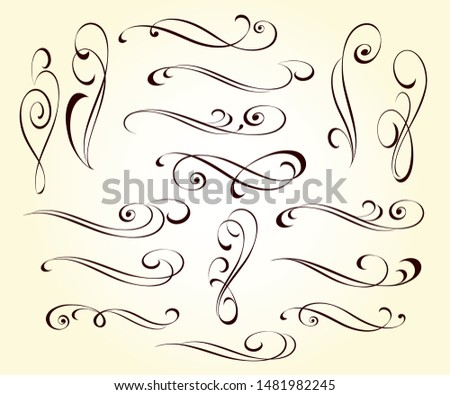 Elegant elements of design.Vector illustration.