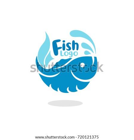 Elegant Fish Logo Vector Illustration eps.10