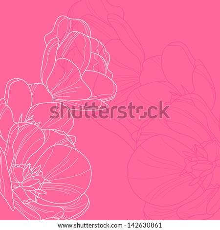 elegant floral invitation for