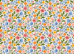 Elegant floral pattern in small colorful flower. Folk style. Floral seamless background for fashion prints. National traditional print. Seamless vector texture.