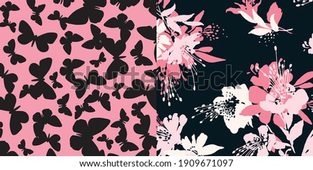 Elegant floral pattern in small colorful flowers. Liberty style. Floral seamless background for fashion prints. Ditsy print. Seamless vector texture. Spring bouquet.