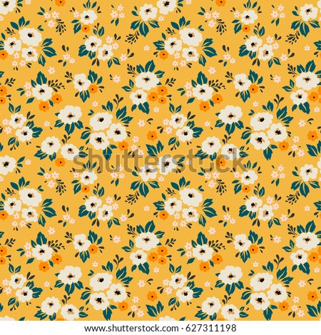 elegant floral pattern in small