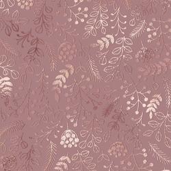 Elegant floral pattern. Rose gold. Vector illustration