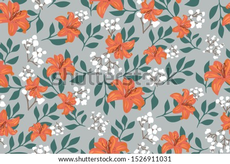 elegant floral pattern with