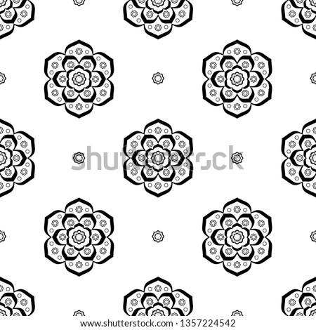 elegant floral textile motif in