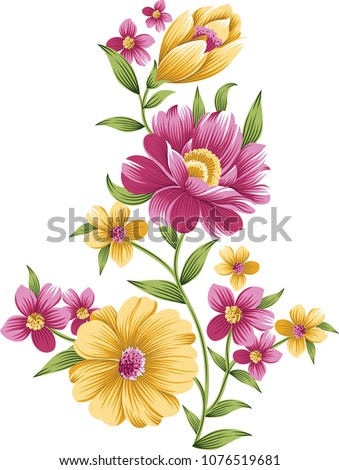 elegant flowers bouquet #1076519681