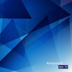 Elegant Geometric Blue Background - Vector Illustration, Graphic Design Editable For Your Design. Beautiful Background For Business Brochure