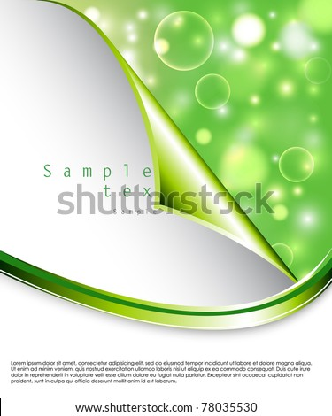 Elegant glowing bokeh vector background