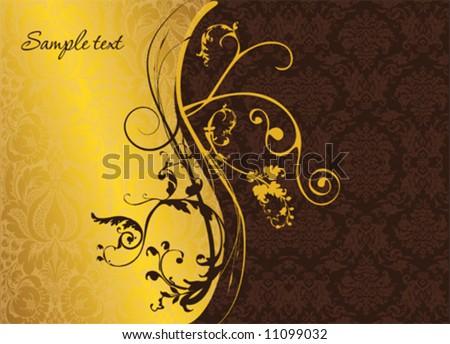 Elegant gold and burgundy background image