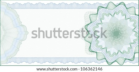 Elegant Guilloche Background for Gift Certificate, Voucher or Banknote / elements are in layers for easy editing