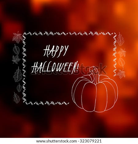 elegant halloween greeting card