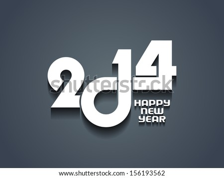 elegant happy new year 2014 design