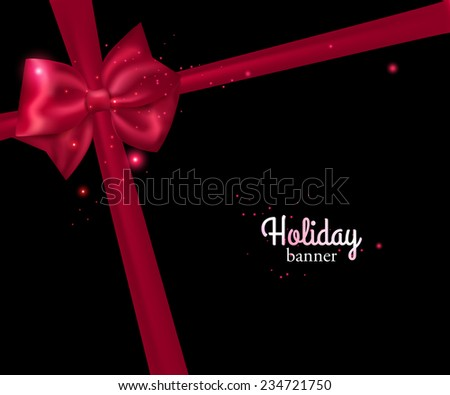elegant holiday banner with