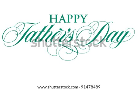 Elegant Holiday Vector Lettering Series: Happy Father\'s Day