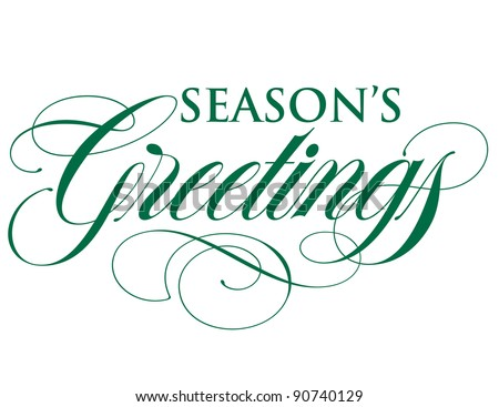 Elegant Holiday Vector Lettering Series: Season's Greetings
