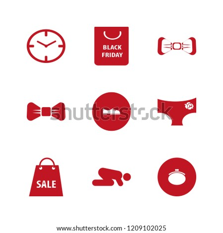 elegant icon. elegant vector icons set white bow tie, watch face, men shoes and panties rose