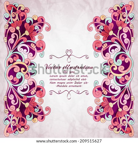 stock-vector-elegant-indian-ornamentation-background-stylish-design-can-be-used-as-a-greeting-card-or-wedding