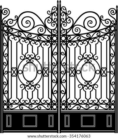 elegant iron gate vintage...