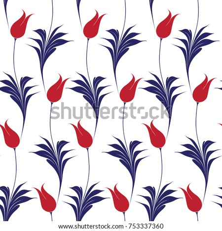 elegant iznik style tulips
