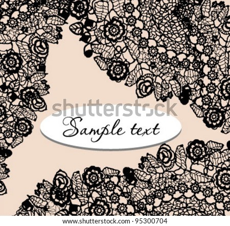 Elegant lace background