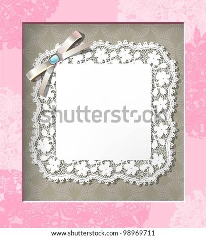 Elegant lace frame. EPS 10 - stock vector