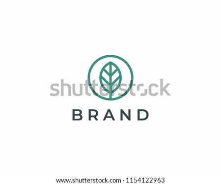 Elegant leaf logo icon. Universal leaf design.