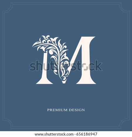elegant letter m graceful