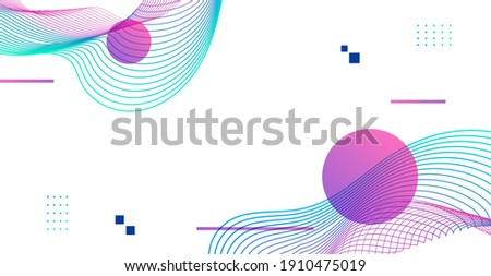 Elegant light background. Abstract background with wireframe lines and circles. Photo stock ©
