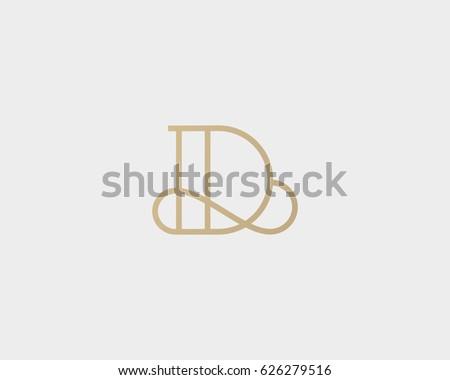 elegant line curve vector