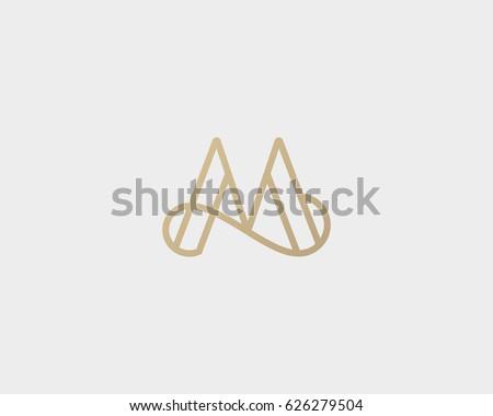 elegant line curve vector...