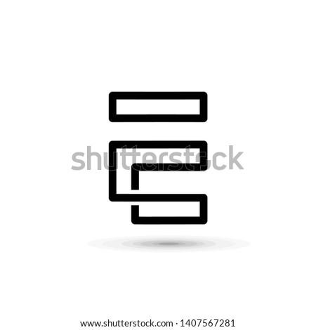 elegant line letter symbol