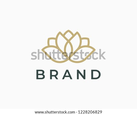 Elegant lotus logo icon. Universal lotus design.