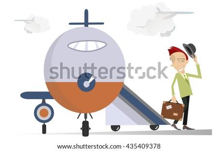 elegant man in the airport