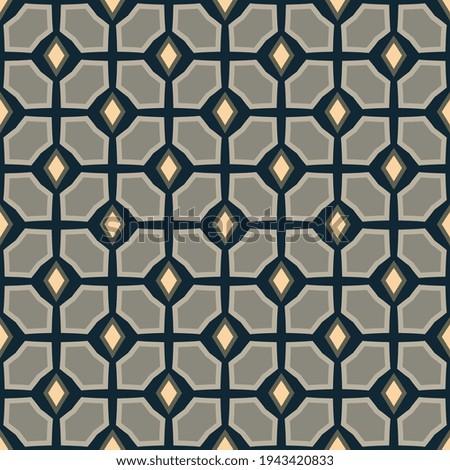 Elegant masculin pattern manly design abstract diamond shape minimal motif ornament. Small patch wax printing block for apparel textile, ladies dress fabric, mens wear, swimwear, fashion garment, wrap Zdjęcia stock ©